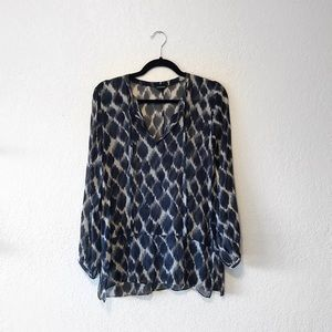 Club Monaco 100% Silk Tunic Top Size XS